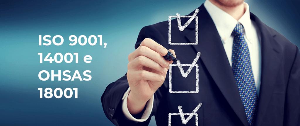 Mais uma conquista alcançada. A recertificação das normas da ISO 9001, 14001 e OHSAS 18001